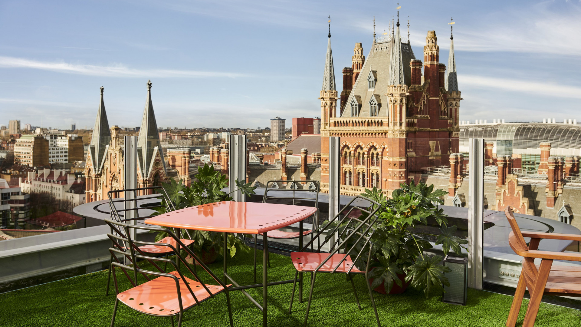 This is an image of The Standard Rooftop at The Standard, London in King's Cross.