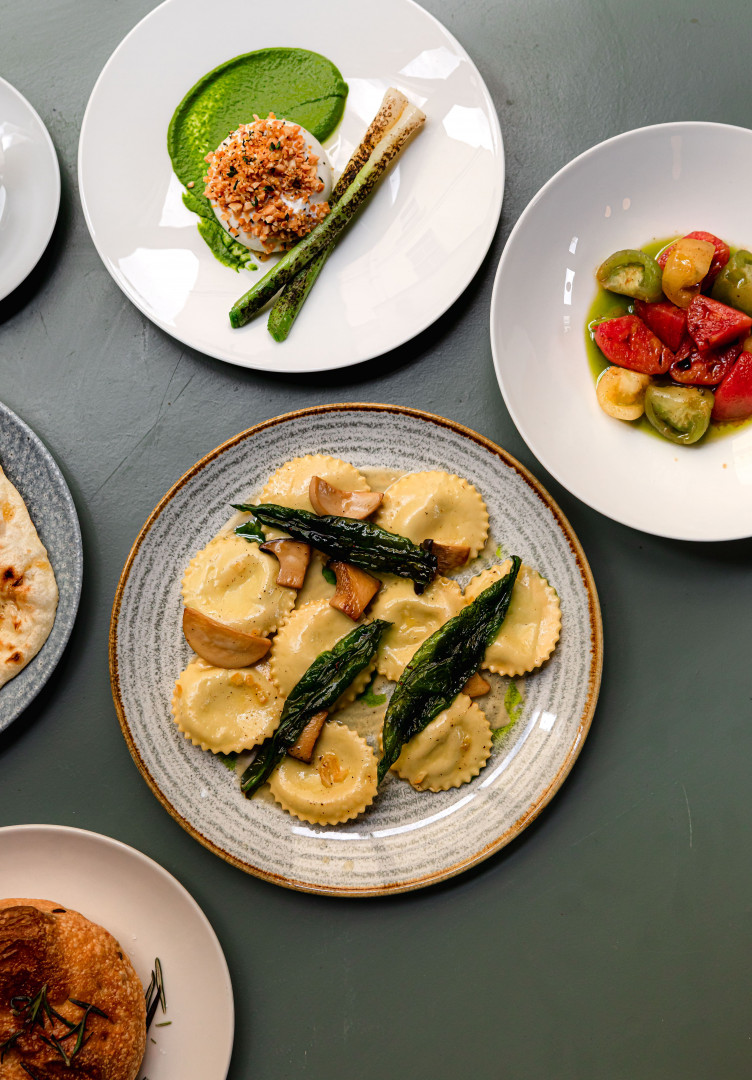 This is a photo of ravioli from the new opening restaurant Cin Cin in Fitzrovia, London.