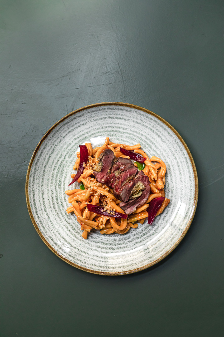 This is an image of a lamb pasta dish at Cin Cin in Fitzrovia