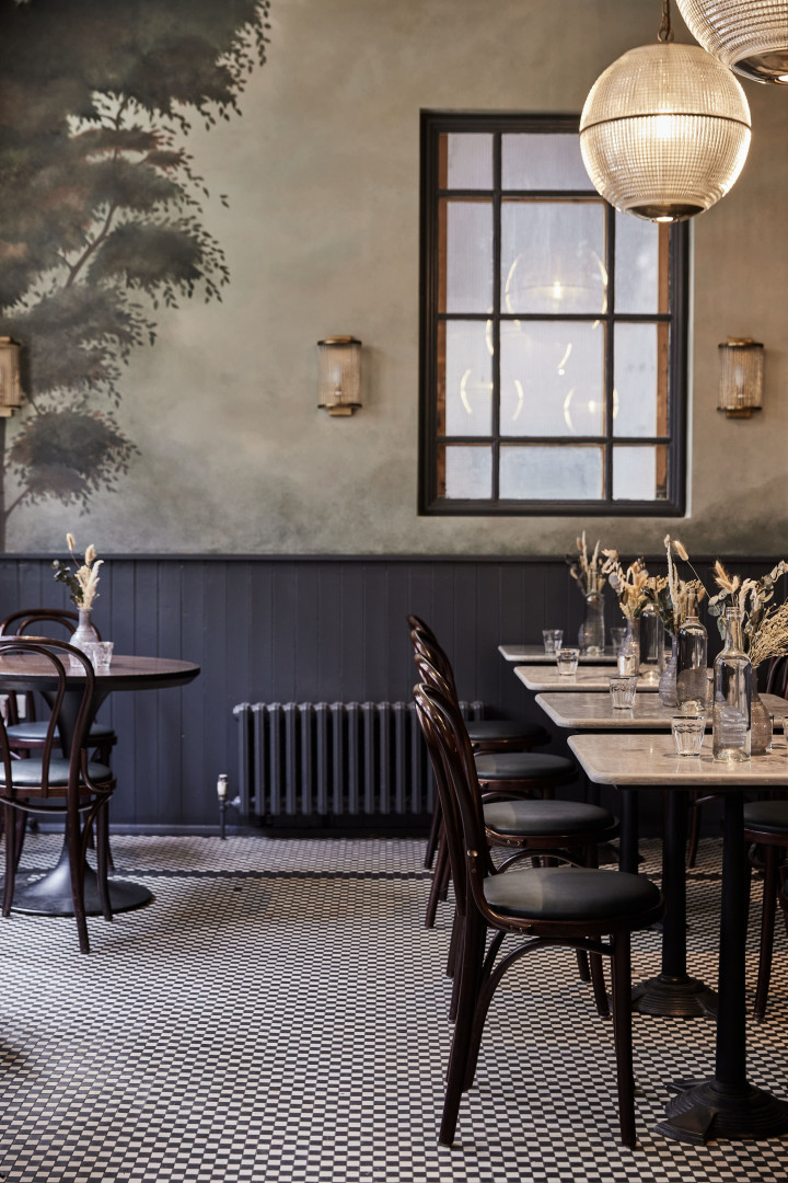 This is a photo of the restaurant's interior design at Wilding, Oxford.
