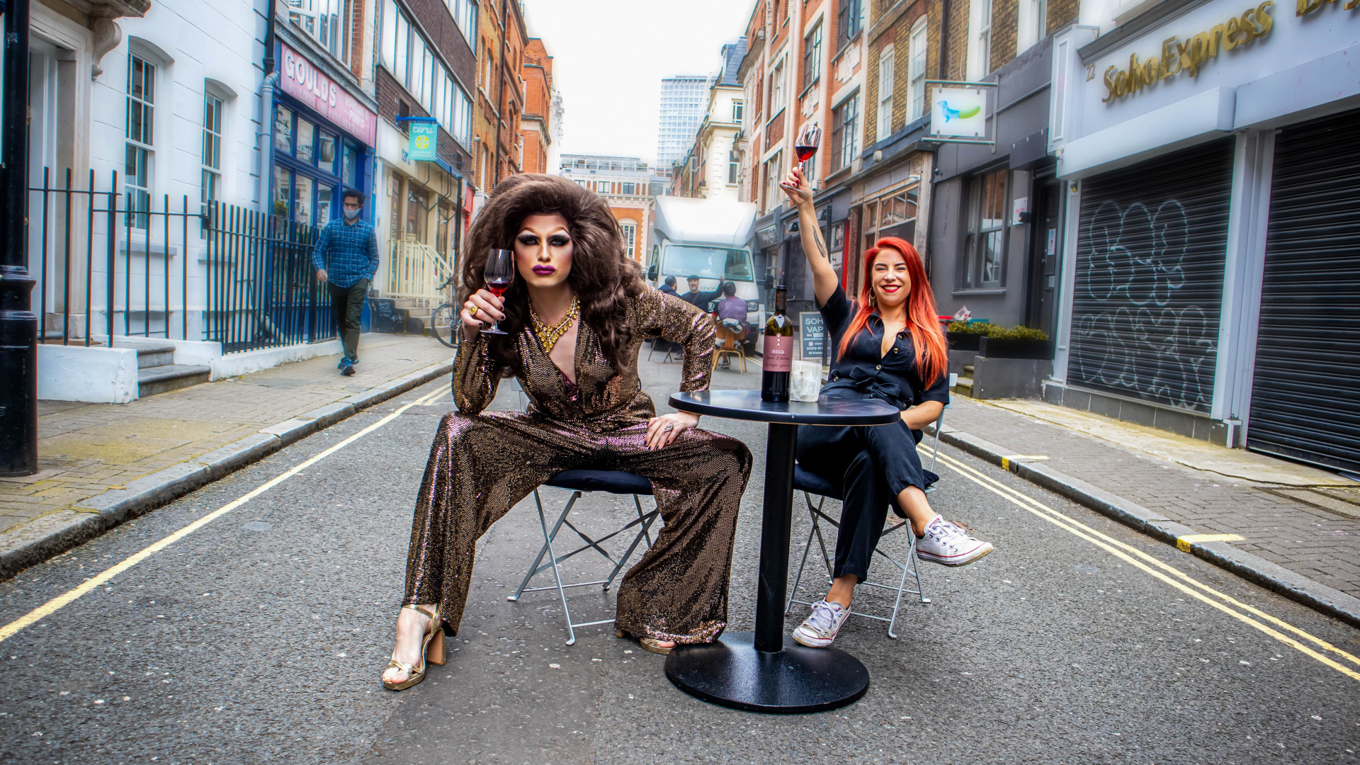 This is a photo of the Drag and Wine night at Golden Gai, Soho, London.