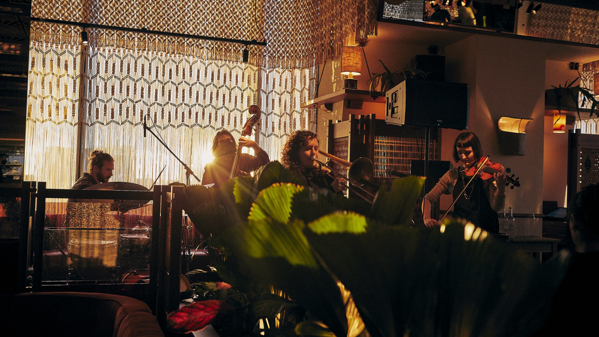 This is a photo of Live on Ten, the weekly live music session at Decimo, The Standard Hotel, London.
