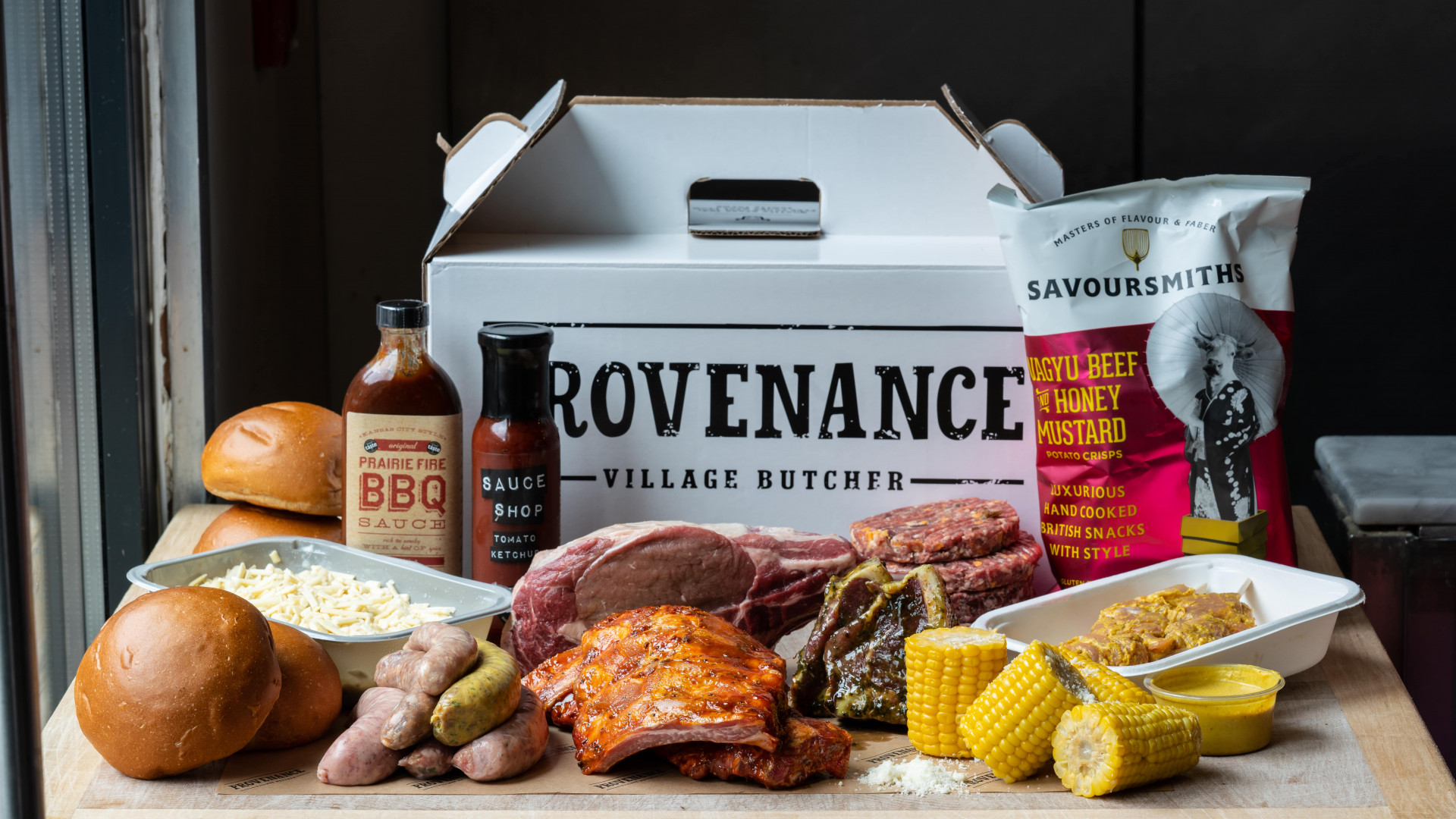 This is a photo of the Father's Day BBQ Box from West London butchers, Provenance Village Butcher.