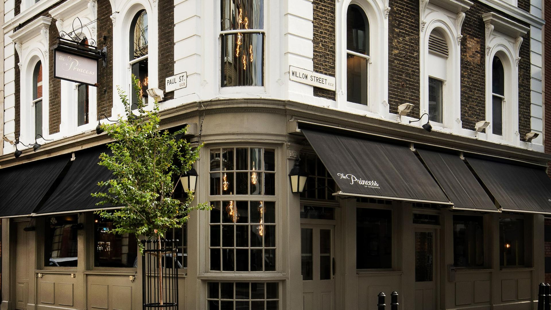 This is an image of the exterior of The Princess of Shoreditch