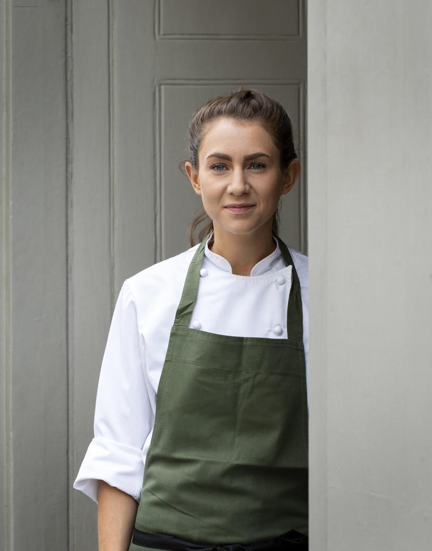 This is a photo of Ruth Hansom, the head chef at The Princess of Shoreditch.