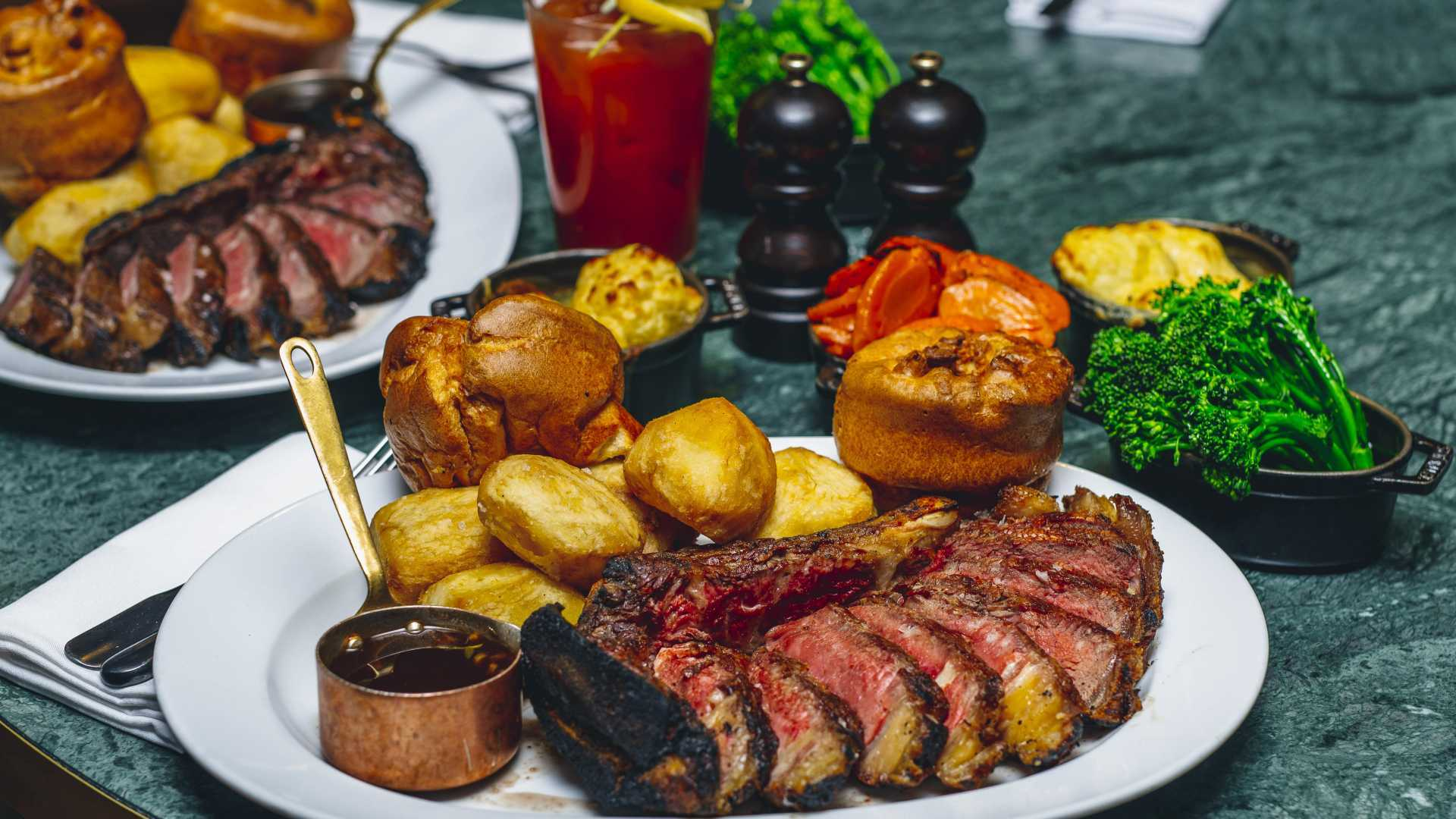This is a photo of The Coal Shed's sharing roast platter.