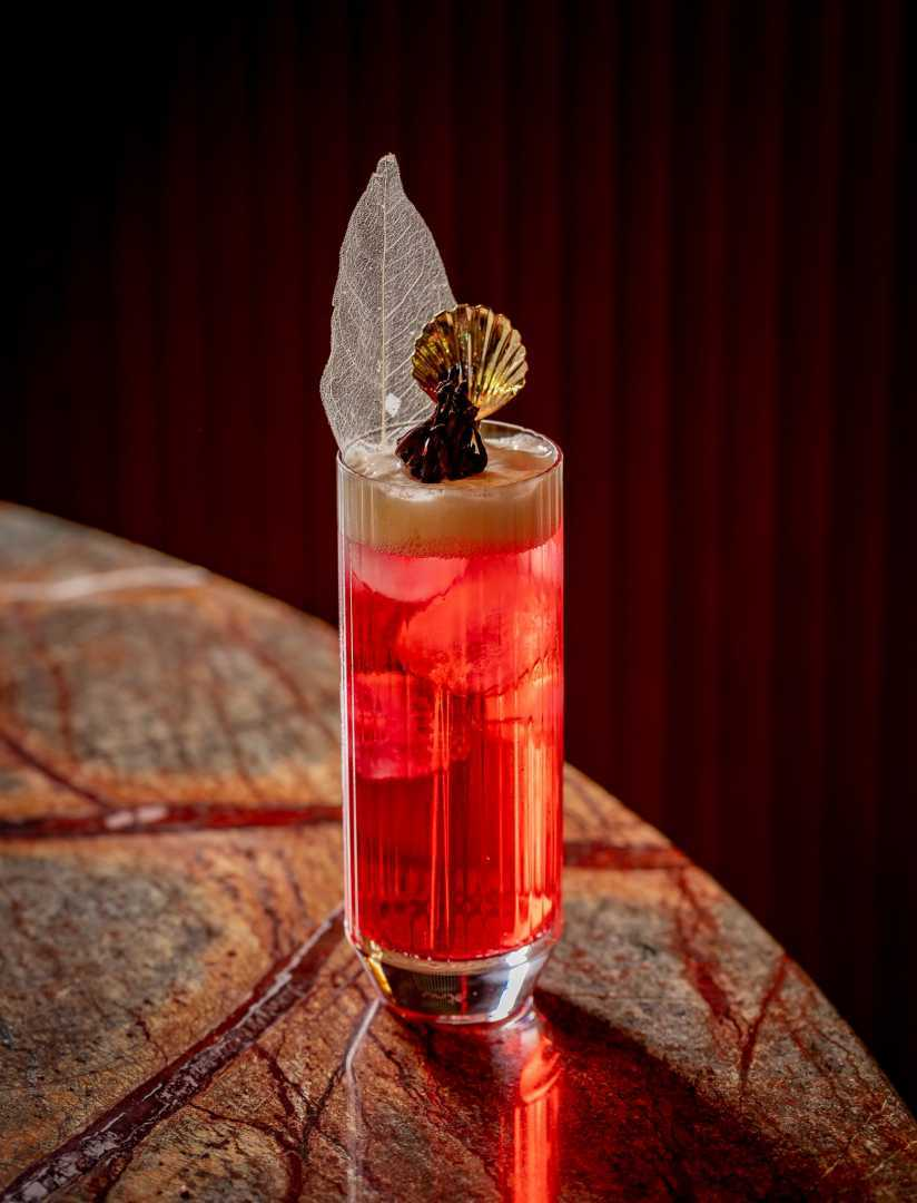 This is a photo of the Amrita cocktail from Manthan, Mayfair.