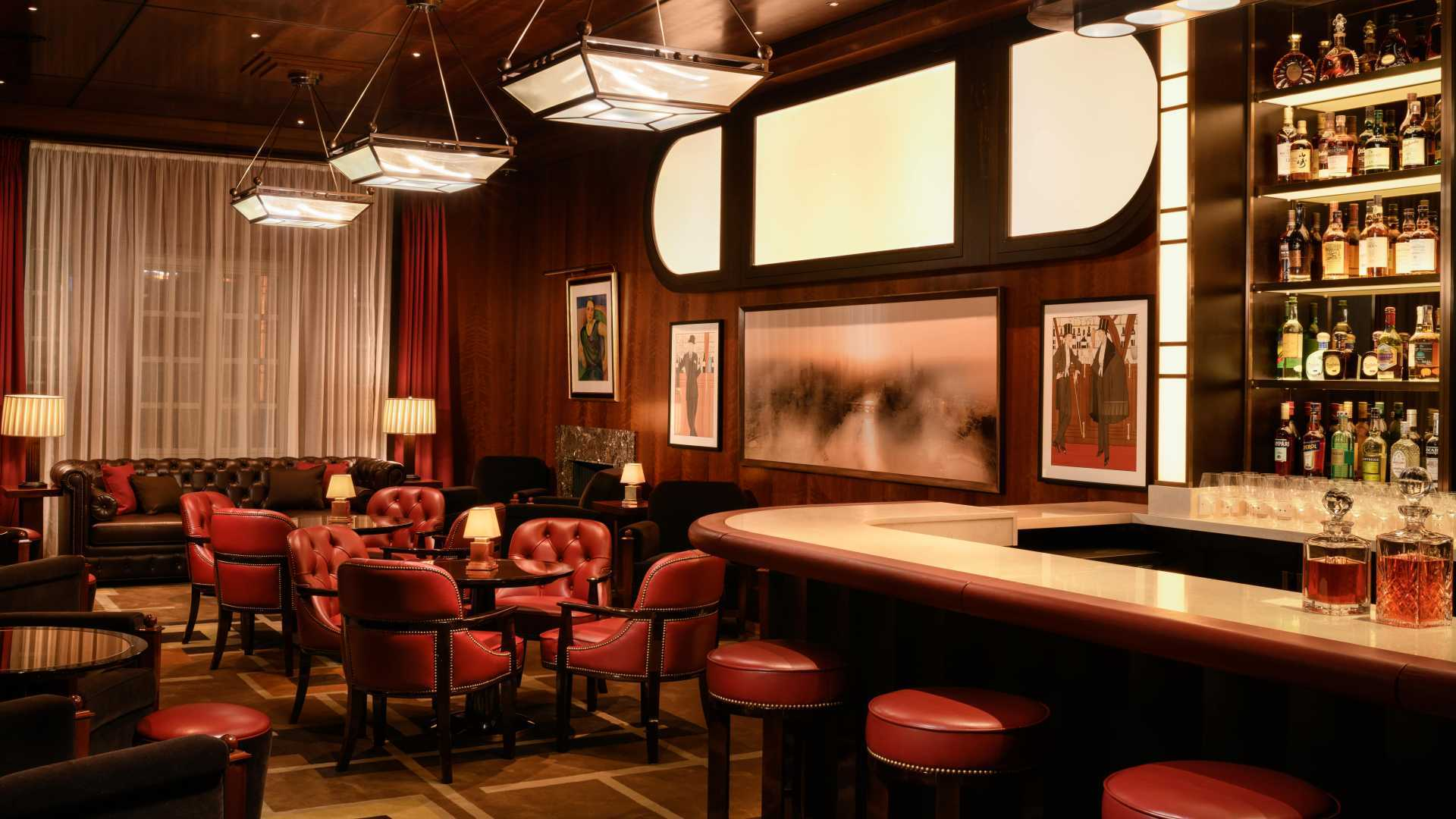 This is a photo of Le Magritte, The Beaumont hotel's new bar.